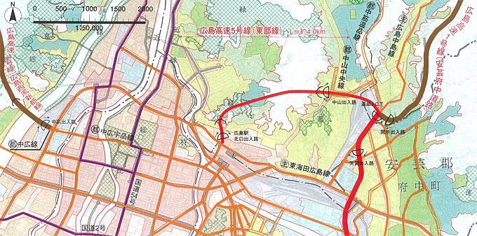 5号線の路線図(計画)